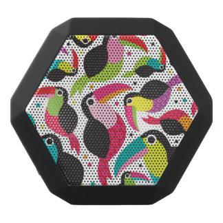 Haut-parleurs Noirs Sans-fils arrière - plan exotique d'oiseau de toucan du