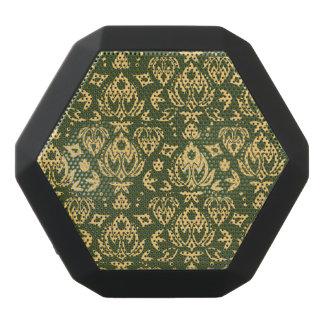 Haut-parleurs Noirs Sans-fils Arrière - plan floral en bois de motif de damassé