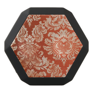 Haut-parleurs Noirs Sans-fils Arrière - plan vintage floral de papier peint