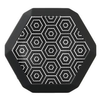 Haut-parleurs Noirs Sans-fils Les hexagones donnent au motif géométrique