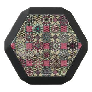 Haut-parleurs Noirs Sans-fils Motif coloré vintage décoratif avec le patchwork