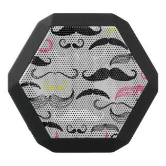 Haut-parleurs Noirs Sans-fils Motif de moustache, rétro style