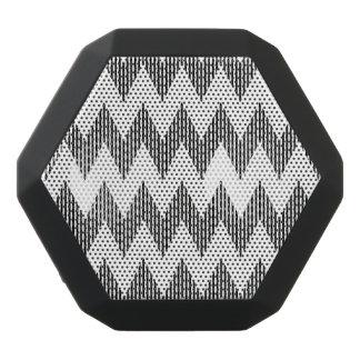 Haut-parleurs Noirs Sans-fils Motif de zigzag géométrique