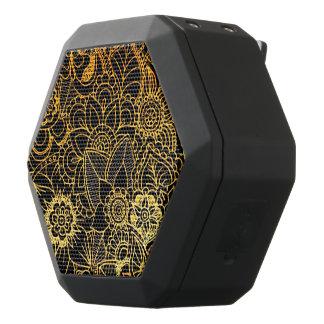 Haut-parleurs Noirs Sans-fils Or floral G523 de griffonnage de Boombot Rex