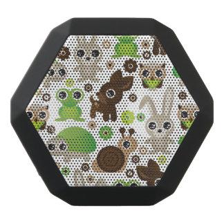 Haut-parleurs Noirs Sans-fils papier peint d'animal de lapin de tortue de cerfs