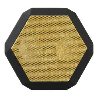 Haut-parleurs Noirs Sans-fils Papier peint floral d'or de luxe