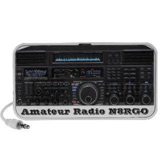 Haut-parleurs par radio amateurs avec l'indicatif