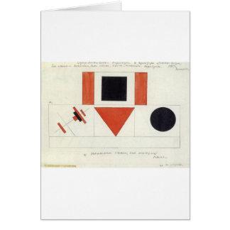 Haut-parleurs sur Tribune par Kazimir Malevich Carte De Vœux