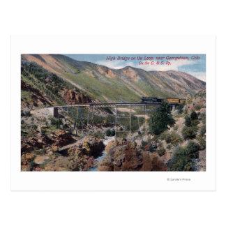 Haut pont sur la boucle carte postale