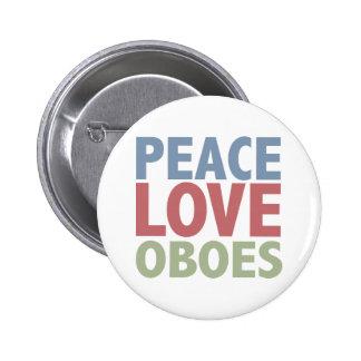 Hautbois d'amour de paix badge rond 5 cm