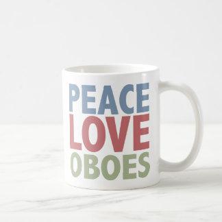 Hautbois d'amour de paix mug