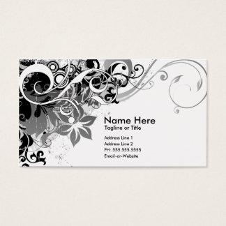 haute fidélité d'été (noir et blanc) cartes de visite