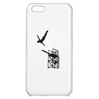 Haute silhouette de plongée étuis iPhone 5C
