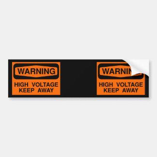 haute tension d'avertissement autocollant de voiture