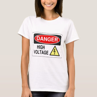 Haute tension de danger d'électricien t-shirt