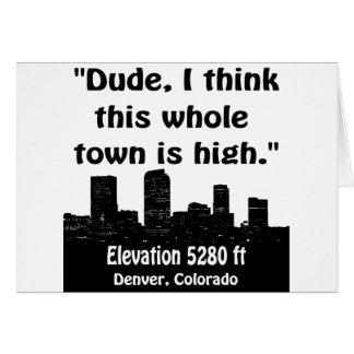 Haute ville de Denver Cartes