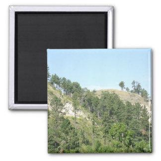 Hautes collines de désert magnet carré