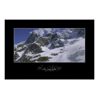 Hautes montagnes : La Meije en France Poster