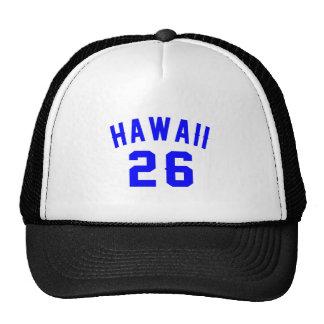 Hawaï 26 conceptions d'anniversaire casquettes de camionneur