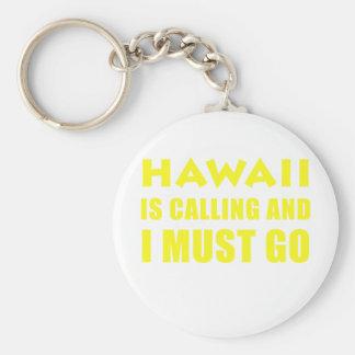 Hawaï appelle et je dois aller porte-clé rond