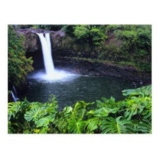 Hawaï, grande île, Hilo, automnes d'arc-en-ciel, Carte Postale