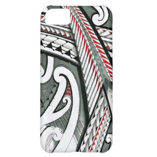hawai gris rouge d'île de conception de tatouage coque iPhone 5C