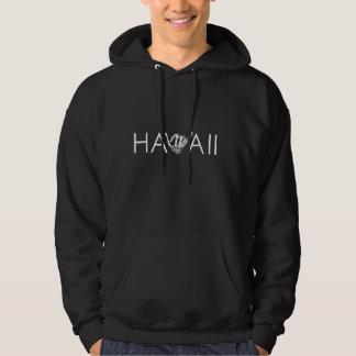 Hawaï sweat - shirt à capuche noir et blanc de