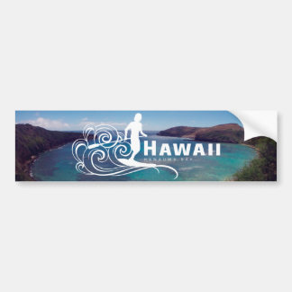 Hawaï tiennent la palette et la baie de Hanauma Autocollant De Voiture