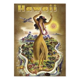 Hawaï vintage 2 cartes de visite personnelles