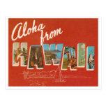 Hawaï vintage carte postale