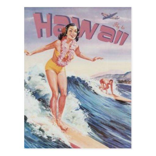 Hawaï vintage, Etats-Unis - Carte Postale