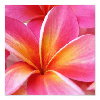 Hawaïen rose de fleur d'Hawaï de Frangipani de Carton D'invitation 13,33 Cm