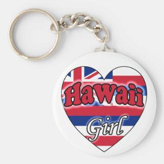 Hawaii Girl Porte-clé Rond
