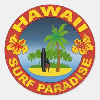 hawaii surf design sticker