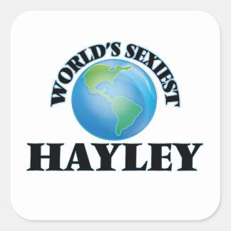 Hayley le plus sexy du monde autocollant carré