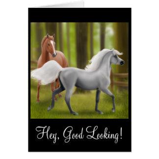 Hé carte belle de cheval