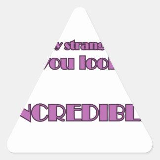 Hé étranger sticker triangulaire