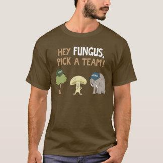 Hé le champignon, sélectionnent une équipe ! t-shirt