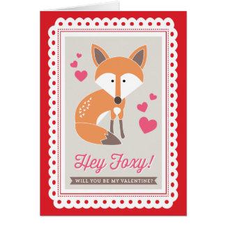 Hé rusé ! par des copies Valentine d'origami carte