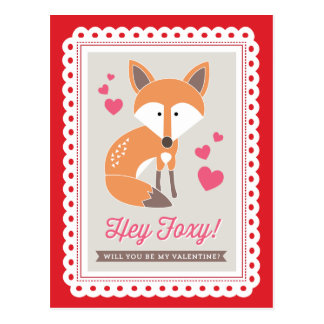 Hé rusé par la carte postale de Valentine d impr