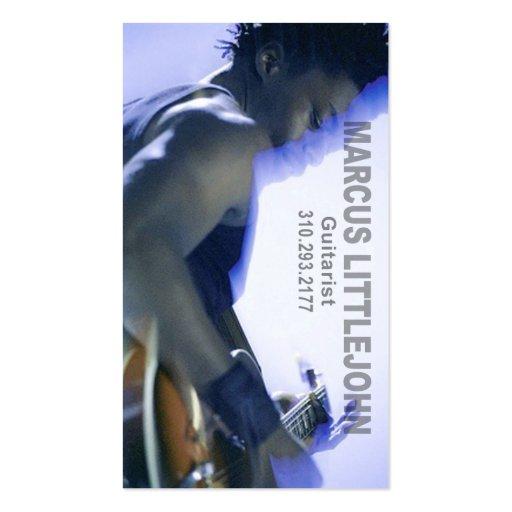 Headshot de guitariste pour le musicien cartes de visite professionnelles