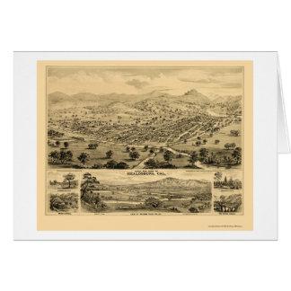 Healdsburg, carte panoramique de CA - 1876