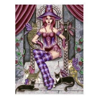Heather - carte postale gothique de sorcière de