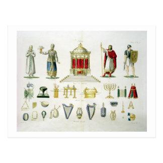 Hébreu Lévi, prêtre, roi et soldat avec sacré Carte Postale