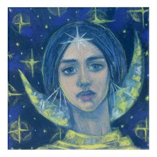 Hecate, déesse de lune, peinture en pastel, art