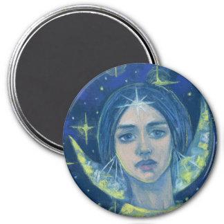 Hecate, déesse de lune, peinture en pastel, art aimant