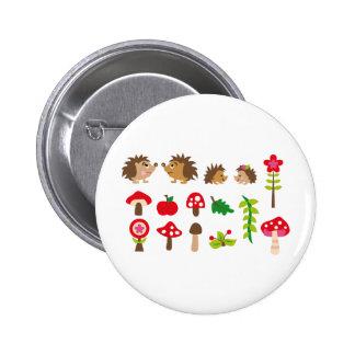 hedgehogsBall Badges Avec Agrafe