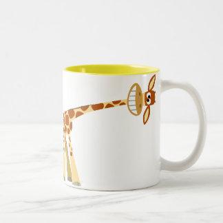 Hee Hee Hee ! ! Tasse de girafe de bande dessinée