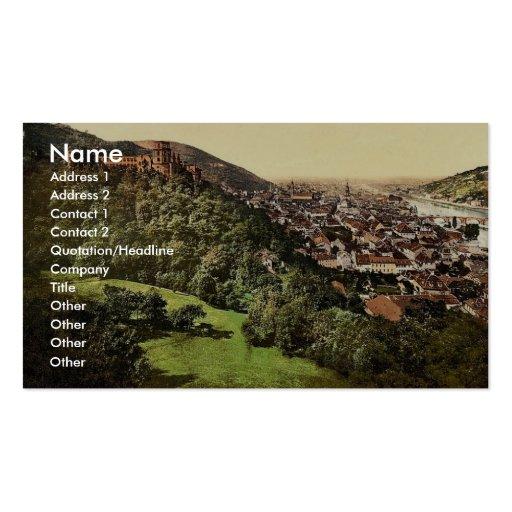 Heidelberg, vu de la terrasse, Baden, Allemagne Cartes De Visite Professionnelles