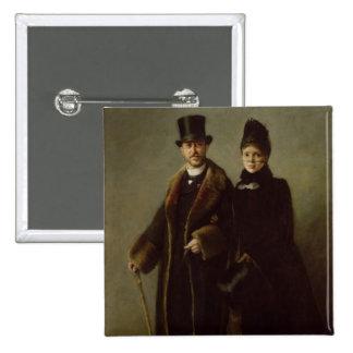 Heinrich Schliemann et son épouse Badge